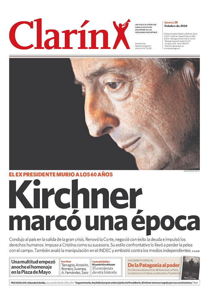 Capas dos jornais argentinos