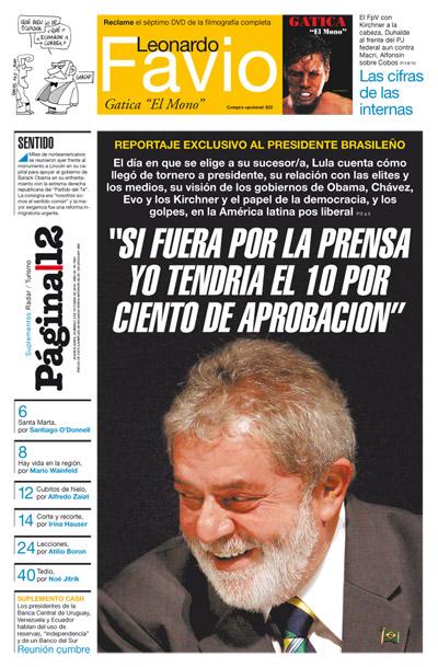 Matérias sobre a eleição brasileira nos jornais argentinos de hoje